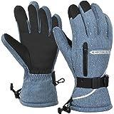 MUCO Ski Gloves Mens Women Waterproof Winter Gloves,-30℉ Thermal Thicken Velvet Inner Anti-slip Touchscreen Snow Gloves with