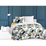 CALITEX Parure 3 pièces 240x220 cm SCANDINAVE, 100Pourcent_Coton, Multicolore, 240_x_220_cm
