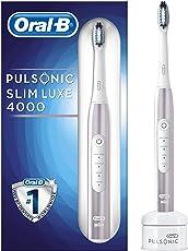 Oral-B Pulsonic Slim Luxe 4000 elektrische Schallzahnbürste, mit Timer und Aufsteckbürste, roségold