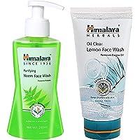 Himalaya Herbals Purifying Neem Face Wash, 200ml & Oil Clear Lemon Face Wash, 150ml Combo