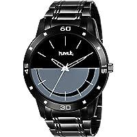 HMTq Analogue Men's Watch (Black Dial Black Colored Strap)