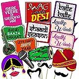 Party Propz?¢ Set of 16 Pieces Wedding Photo Booth/ Mehandi Props/ Sangeet Props/ Bachelorette Props.