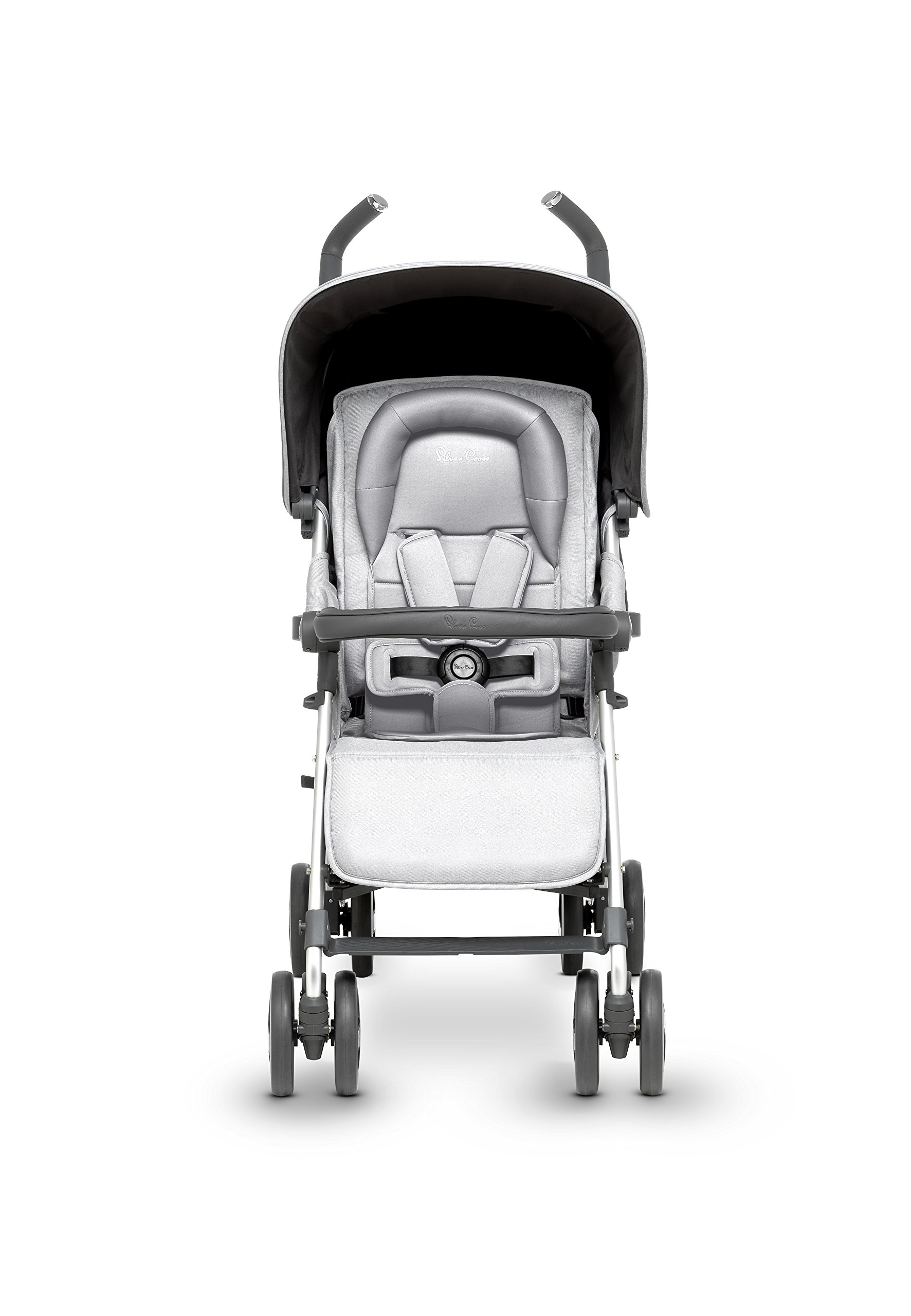 Silver Cross Reflex Stroller, Platinum Silver Cross Reflex is an advanced stroller, suitable from birth up to 25kg, with a wealth of features 5-point Harness Combine with Silver Cross Simplicity Car Seat to create a convenient Travel System 2