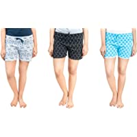 A9 Multicolor Pure Cotton Shorts for Women, Pack of 3