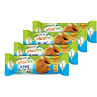 Wheafree Gluten Free Hi Fibre Biscuits (Pack 200gm * 4) Certified Gluten Free