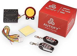 Autofy LOCK0003 Universal Button Remote Key Anti-Theft Alarm System for All Bikes