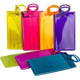 Bagages /Étiquettes Silicone,5 Pack Couleurs Etiquette Bagage Valise PVC Bagages Sac /à Main Tag pour Voyage Bussiness Sacs /à Dos Valise Multicolore