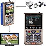 GT MEDIA V8 Satfinder Meter Localizador de señal de satélites Digital Buscador de Satélite Medidor de Campo HD 1080P DVB-S/S2