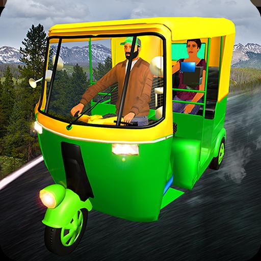 Hillside Tuk Tuk Auto Rickshaw Taxi Driver 2017 3D