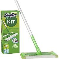 Swiffer Starter Kit Scopa Lavapavimenti per la Pulizia di Pavimenti In Legno Massiccio e Altri Materiali, Include 1…