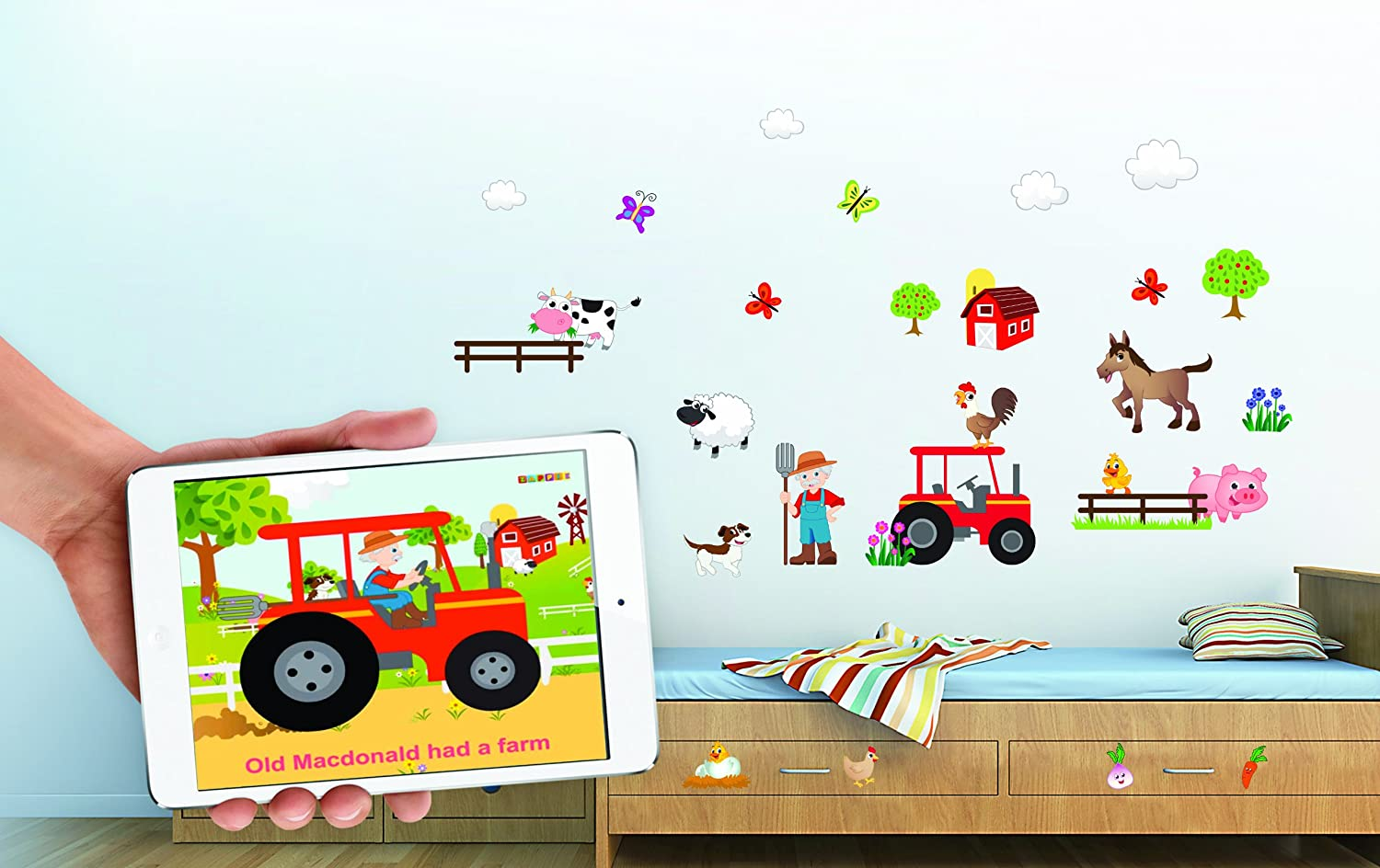 Fun U0027Old MacDonald Had A Farmu0027 Animals Nursery Rhyme Wall Stickers / Wall  Decals Which Come To Life In Childrens Bedrooms, Kids Playrooms And Baby  Nursery ... Part 98