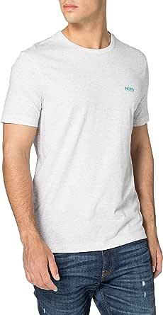 BOSS Mens Tee Cotton-Jersey T-Shirt with Contrast Logo Print