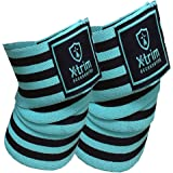 Xtrim Durafit -Knee Wraps-Elasticized-Knee Support Stabilizer for Sports, Squats and Heavy Lifting -2 Meters Length-Washable