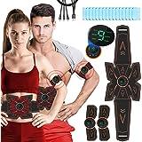 Breett Elettrostimolatore per Addominali Elettrostimolatore Muscolare, Cintura Stimolatore Addominali Ricaricabile, per…