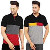 Leotude Regular Fit Matty Polo T-Shirt for Men (Color: Multi)