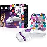 Braun Silk-Expert 3 BD 3006 Epilatore a Luce Pulsata Bianco/Viola, Epilazione Definitiva dei Peli Visibili a Casa + Borsa Kap