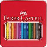 Faber-Castell 110916 - Buntstifte Jumbo Grip, 16 Stifte im Metalletui