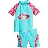 Playshoes UV-Schutz Bade-Set Flamingo Capo d'Abbigliamento Bambina