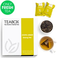 Teabox Organic Assam Oolong Tea (Exotic Assam Oolong Tea) 40g,16 Teapac Teabags | Low Caffeine, High Anti-Oxidants, Natural Ingredients: Organic Oolong Teas | Sealed-at-Source Freshness