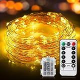 Guirlande Lumineuse 12M 120 LED IP65 Etanche 11 Modes Fairy Lights interieur et extérieur, Guirlande de Lumière pour Maison C