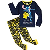 Pokèmon Pijama Niño, Pijamas Niños de Invierno con Camiseta Manga Larga y Pantalon en Algodon, Pijama Pikachu, Ropa Infantil,