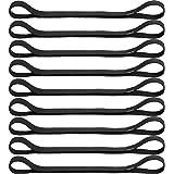 9 fasce elastiche per capelli, antiscivolo, in silicone, per esercizi di calcio, basket, calcio, tennis, yoga e golf