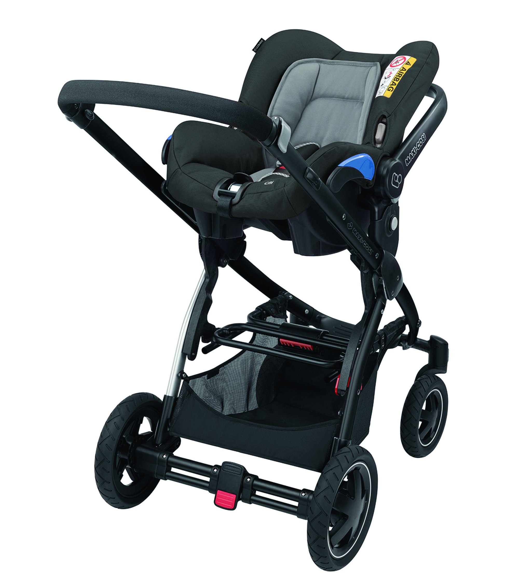 Maxi-Cosi Kinderautositz Citi Concrete Grey Maxi-Cosi Side protection system, guarantees optimal protection in the event of a side impact Lightweight, light weight and ergonomically shaped safety bar for use as carrying handle Practical travel system 10