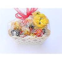 Lindor Festa della Donna Cesto - Lindt Praline Sfuse Lindor Assortito + Mini Bouquet di Mimose