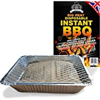 BBQ Instant Disposable Barbecues. Great for small parties or for a quick BBQ with charcoal & firelighter. Lights with 1 Match.