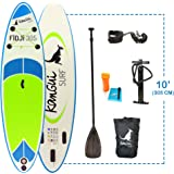 Kangui - Stand up Paddle 305cm Sup Gonflable + pagaie + Sac à Dos + Pompe Haute Pression + Leash + kit de réparation- Fidji