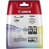 Canon PG-510/CL-511 Cartouche d'encre noir et couleur capacité standard noir: 240 pages couleur: 244 pages multipack
