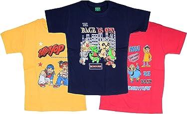 Devil Boys Girls Cotton Half Sleeve Round Neck Tshirts Kids (Pack of 3)
