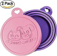 Rollmops 2er-Set Dosendeckel für Tierfutter | Lebensmittelechtes Silikon | 3in1 Passform | Katzen & Hunde