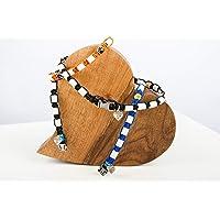 EM-Keramik Halsband, Hund Zeckenschutz Maßanfertigung aus Trendmaterial Paracord. Effektive Mikroorganismen EM Keramik, biologisch keine Chemie, Schmuckhalsband, EM Band, Zeckenhalsband für Hunde