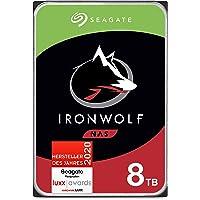 Seagate IronWolf NAS interne Festplatte 8 TB HDD, 3,5 Zoll, 7200 U/Min, CMR, 256 MB Cache, SATA 6 GB/s, silber, FFP…
