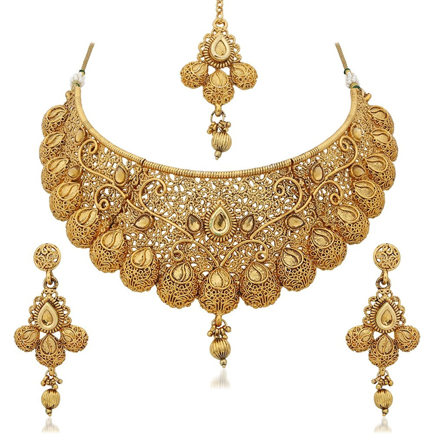 Buy Necklace Sets Online from Designers across India. Worldwide delivery, beautiful Pearl necklace designs hassle free returns, Free Shipping. Call + for any queries.