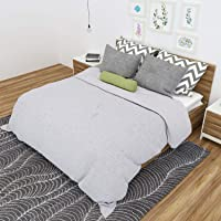 Rustik Craft Hand Made Pure Cotton Vintage Style Applique Cut Work Bed Sheet/Spread Quilt Spread Throw Tapestry (Size: 90 X 108 Inch) for Home Hotel Festive Gifting