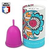 Docticup Docticup - Coupe Menstruelle - Made In France - Silicone Médical Hypoallergénique - Grande Cup - Avec Pochette De Rangement (Taille L: Héra) Rose