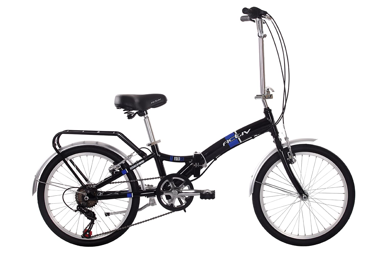 Raleigh Avtiv Fold A6 Kids Folding Bikes Black 10 Inch