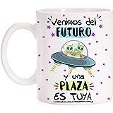 FUNNY CUP Taza Opositor Venimos del Futuro y una Plaza es Tuya Taza Regalo para opositor u opositora Ideal para motivación pa