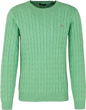 GANT Men's Cotton Cable C-Neck Pullover Sweater