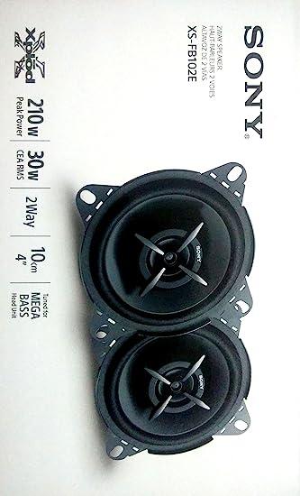 speakers sony. sony xs-fb102e mega bass 4-inch speakers (black) price: buy online in india -amazon.in