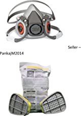Pankajm2014 3M-6200 Half Face Piece Reusable Respirator, Medium, With 3M 6003 Cartridges Complete Set