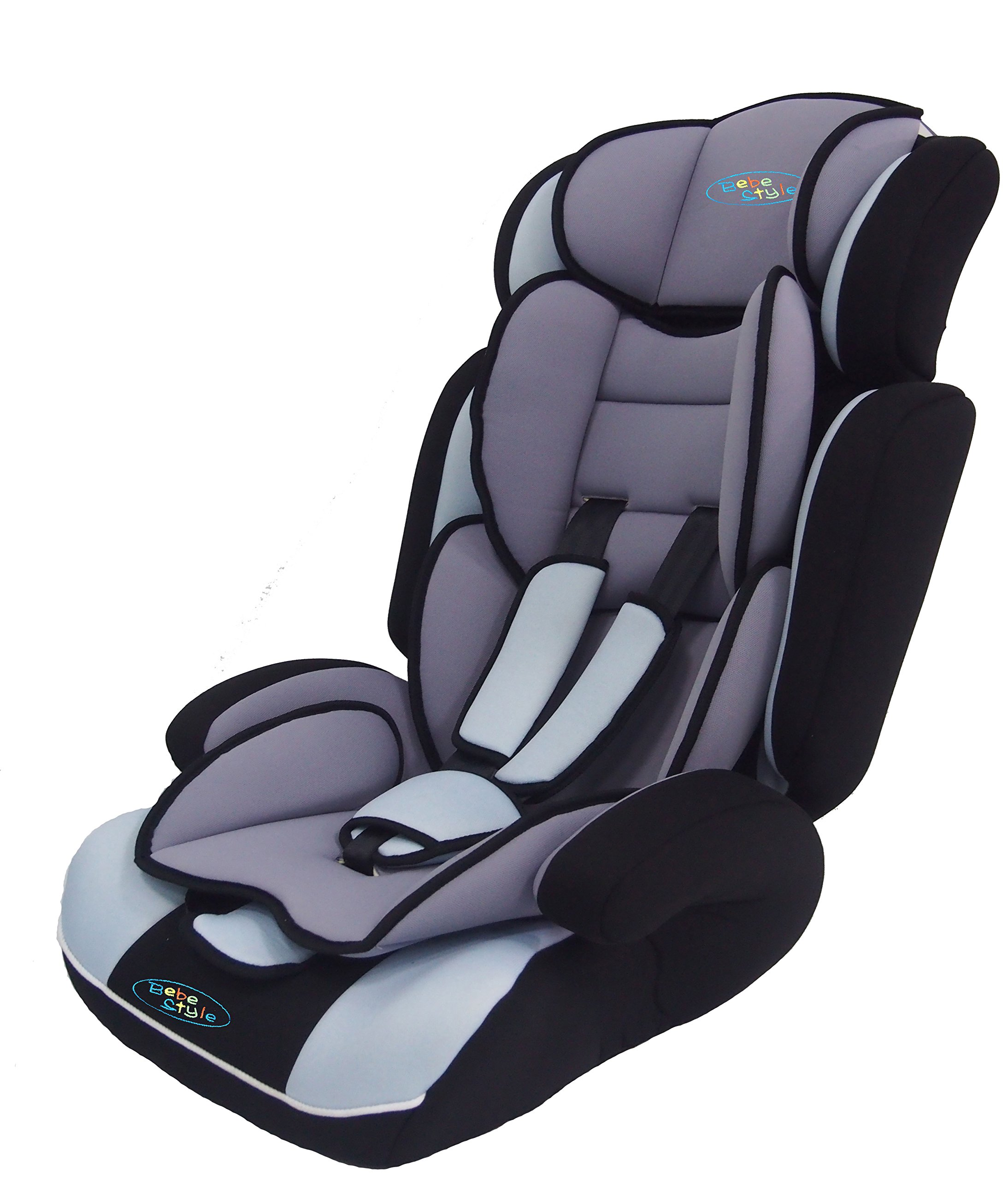 Bebe Style Convertiblle 1/2/3 Combination Car Seat and Booster Seat - Blue  From 9 months to 12 years old, one size fits all (9-36kg) Converts to booster seat.  Very Thick Padding Adjustable height of headrest and shoulder straps for the growing needs of the child 4