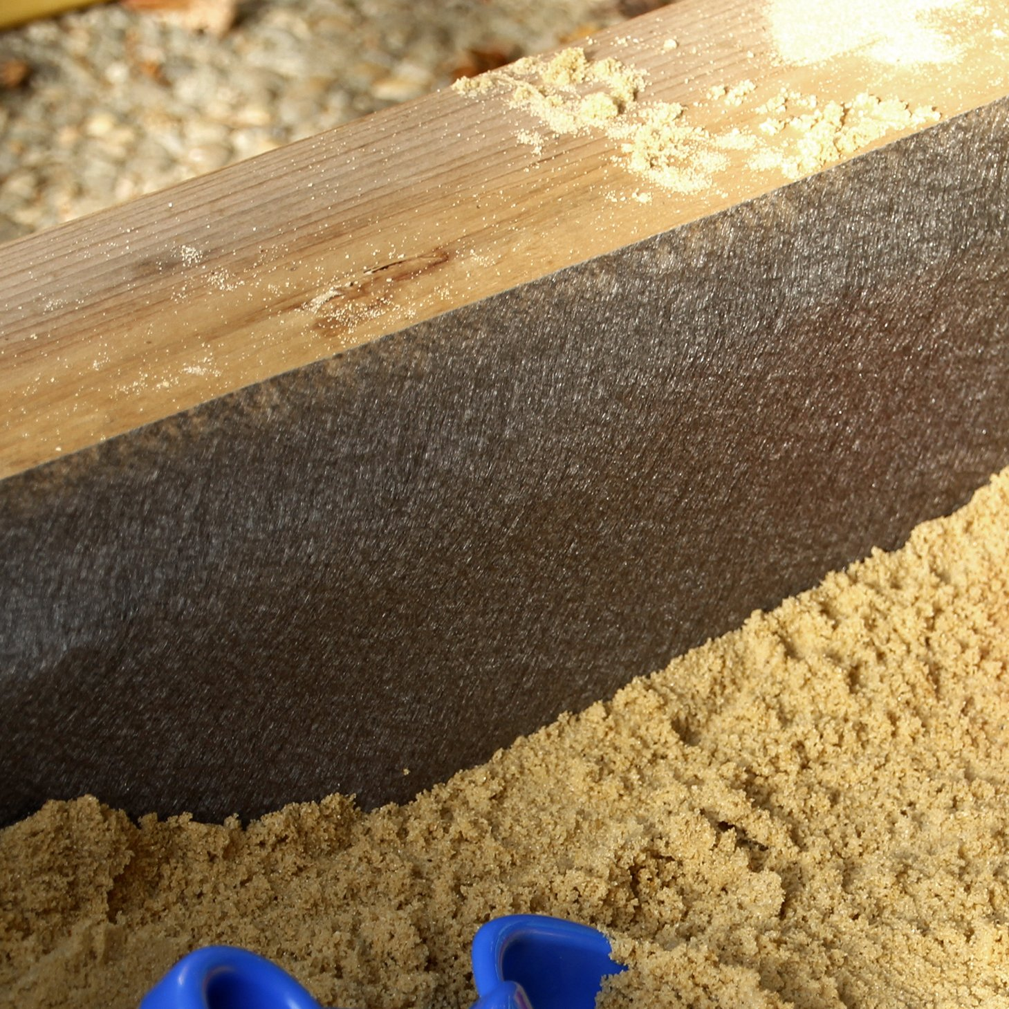 Sandkastenvlies 2×2 m grau Vlies für Sandkasten wasser- und luftdurchlässig vermindert Unkrautwachstum 100 g/m² PP-Vlies