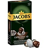 Jacobs Espresso 10 Intenso, Nespresso Compatible Coffee Capsules, Pack of 10