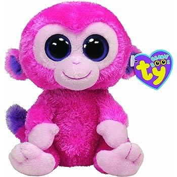 Ty Beanie Boos 15cm Razberry Monkey Pink 7136015