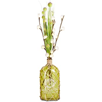 Amazon.de: Relaxdays Dekoflasche, Bodenvase 45 cm, Glas-Flasche mit ...