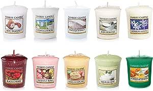 Yankee Candle set di 10 candele, fragranze varie