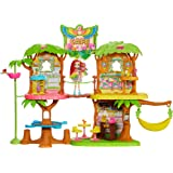 Enchantimals GNC57 JUNGLEWOOD Cafe & PEEKI lalka papuga, wielokolorowa